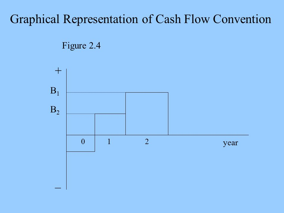 B1B1 B2B2 012 year + _ Graphical Representation of Cash Flow Convention Figure 2.4