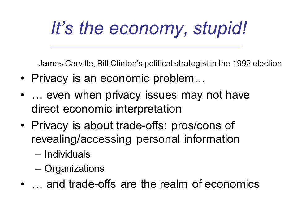 It's the economy, stupid.