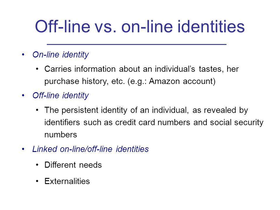 Off-line vs.