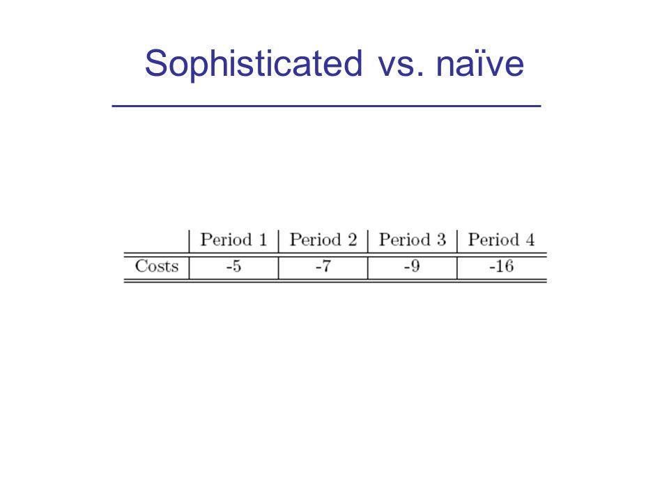 Sophisticated vs. naïve