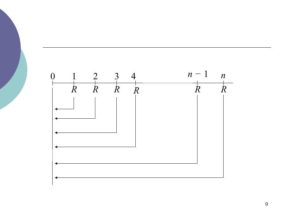 9 01234 n − 1 n RRR R RR