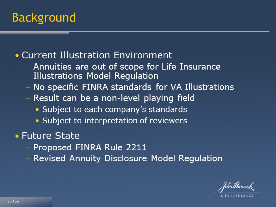 14 of 28 Annuity Disclosure Model Status –Adopted by Life Insurance and Annuities (A) Committee on August 3, 2011 –Was expected to be considered for final adoption at the NAIC Summer National Meeting