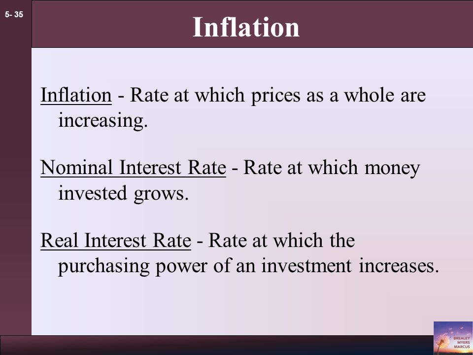 5- 34 Effective Interest Rates example Given a monthly rate of 1%, what is the Effective Annual Rate(EAR).
