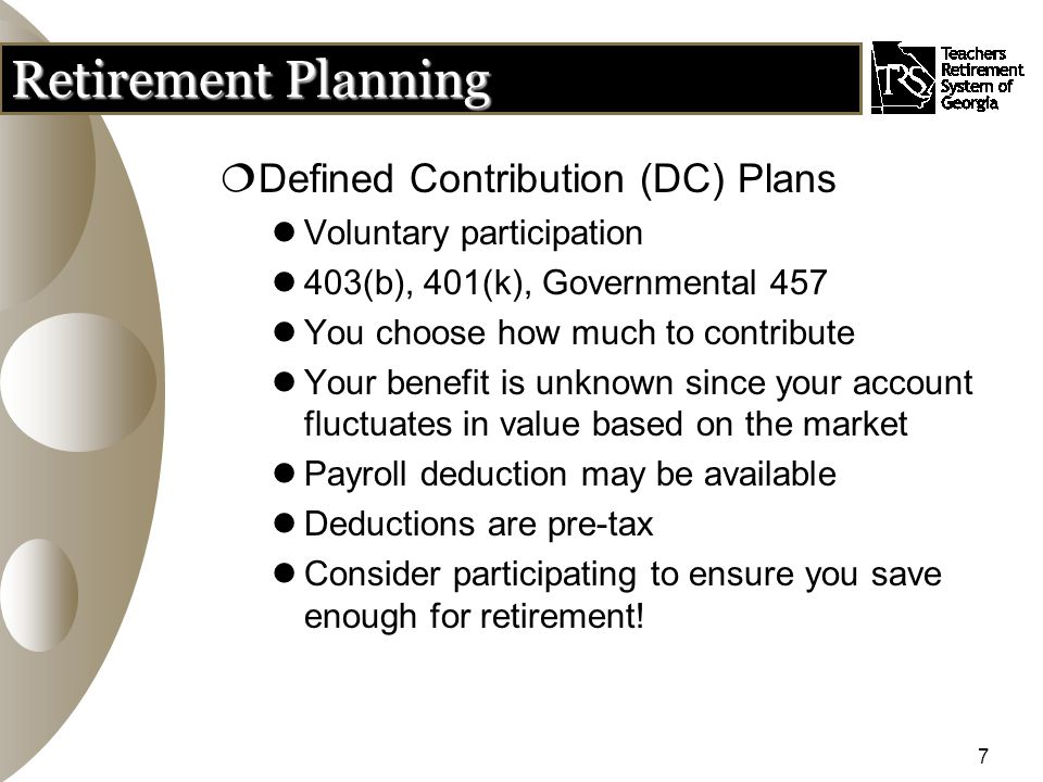 38 PLOP  PLOP = partial lump-sum option plan  Allows a retiring member to elect to receive a portion of his or her benefit in a lump-sum  Lifetime monthly benefit is reduced based on amount of PLOP selected  Can elect a PLOP with any retirement plan  May elect from 1 to 36 months of pay in a lump- sum payable at time first monthly check is issued  PLOP may be taken as a direct payment to you, taxes will apply to direct payments  PLOP can be rolled over in whole or in part to another qualified retirement plan to defer taxes