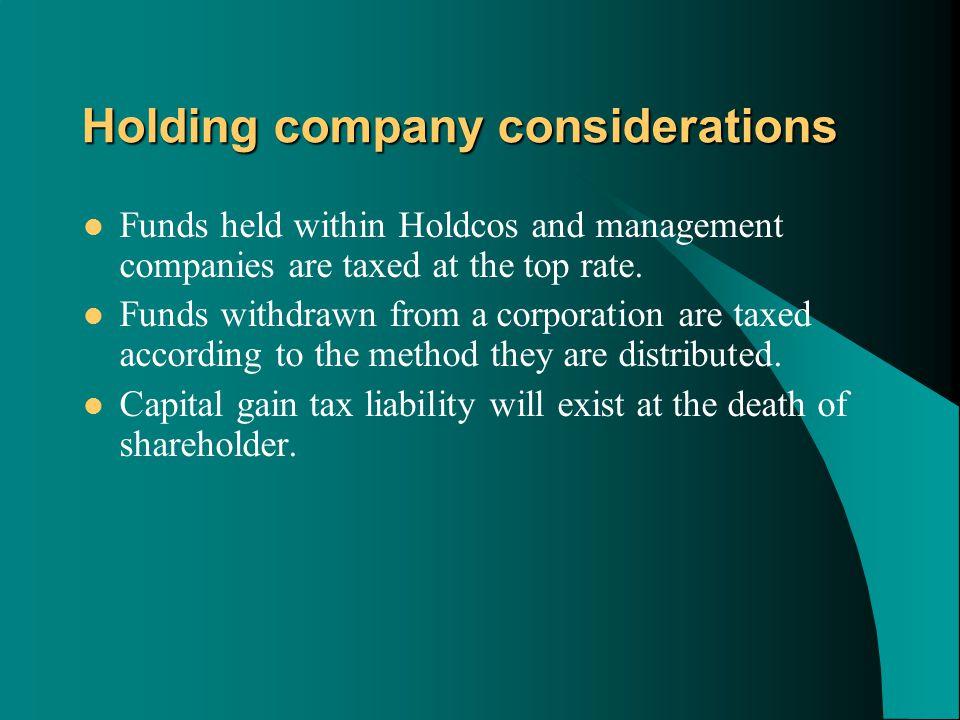 Passive assets CORPORATION $1,000,000 passive assets CORPORATION $1,000,000 passive assets TAXABLE DIVIDENDS DIVIDEND - $1,000,000 TAX at 33% 330,000 NET $670,000 SHAREHOLDER