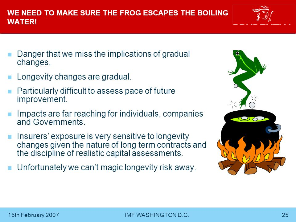 15th February 2007 IMF WASHINGTON D.C.25 WE NEED TO MAKE SURE THE FROG ESCAPES THE BOILING WATER.