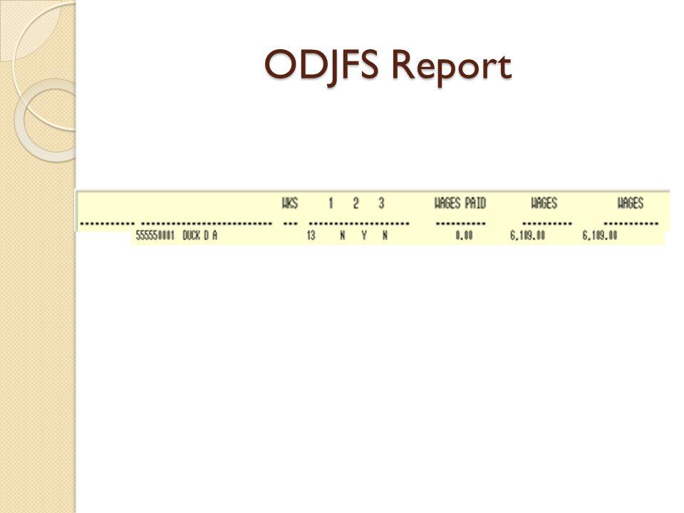 ODJFS Report