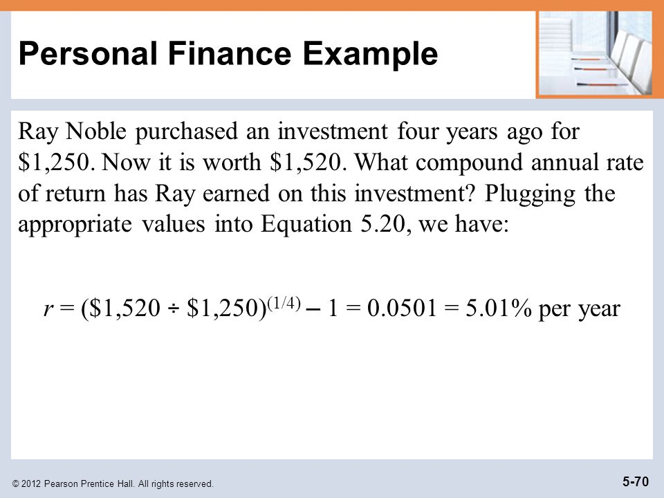 © 2012 Pearson Prentice Hall.All rights reserved.