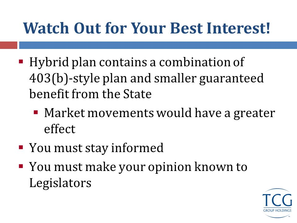 Watch Out for Your Best Interest.