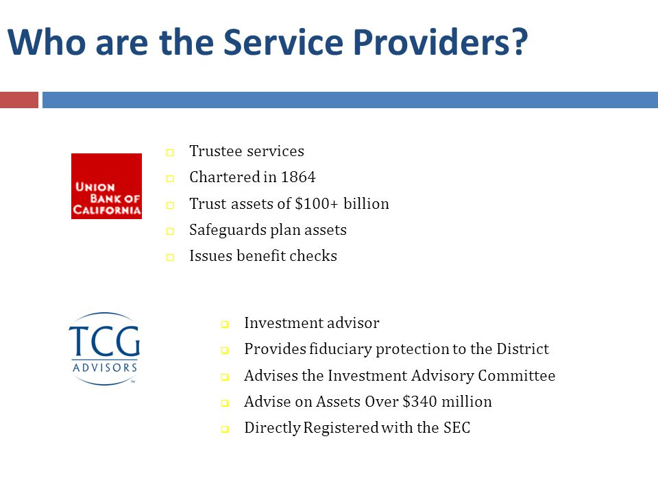 Who are the Service Providers.