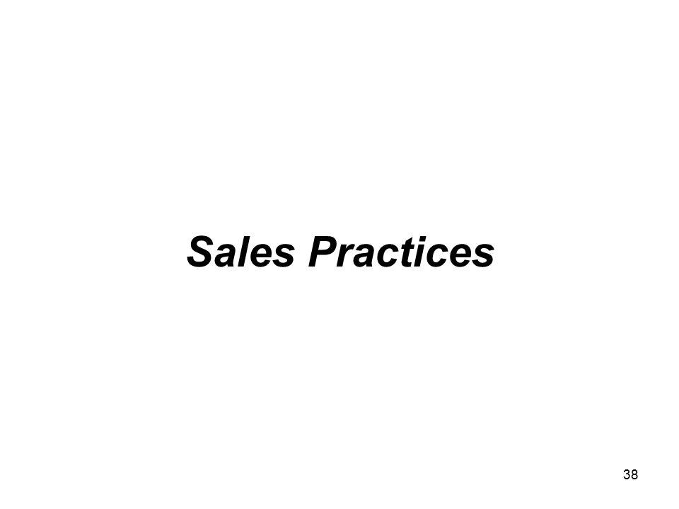 38 Sales Practices