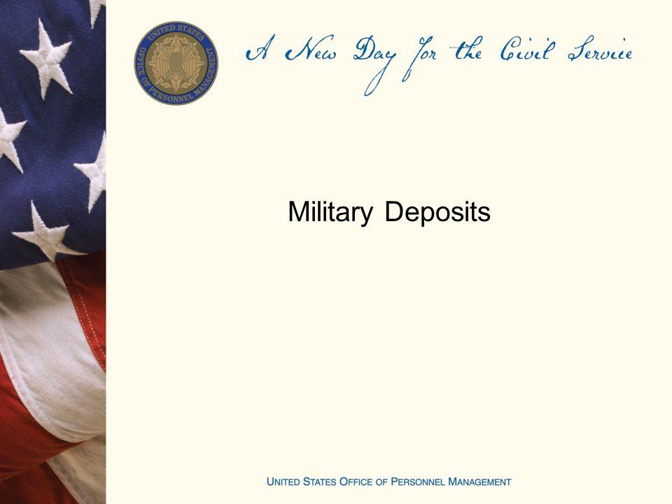Military Deposits