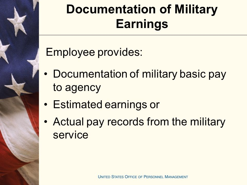 Military Deposit Rules for Concurrent Service (REF: BAL 03-105, June 25, 2003, Computing the Post-1956 Military Deposit for Employees On LWOP Who Receive Civilian Pay During Active Military Duty) Two methods:  Regular computation  Alternative computation