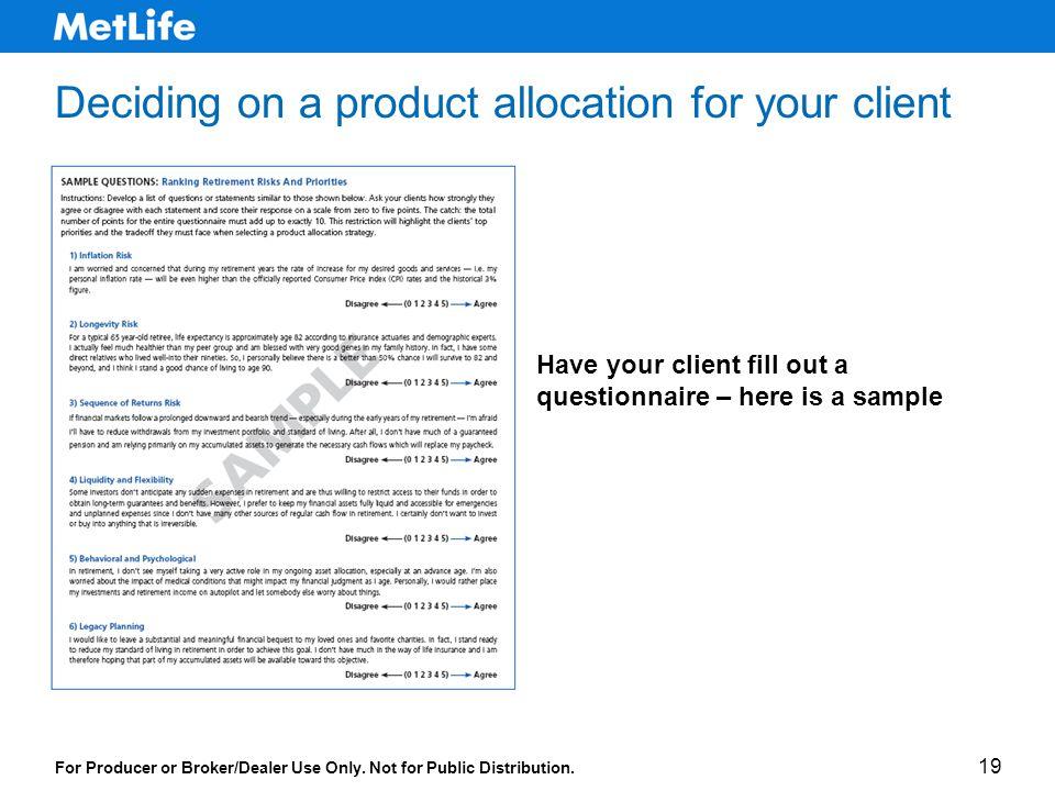 For Producer or Broker/Dealer Use Only. Not for Public Distribution.