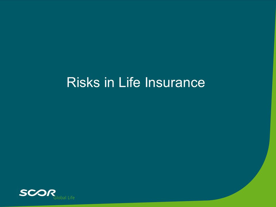 Risks in Life Insurance