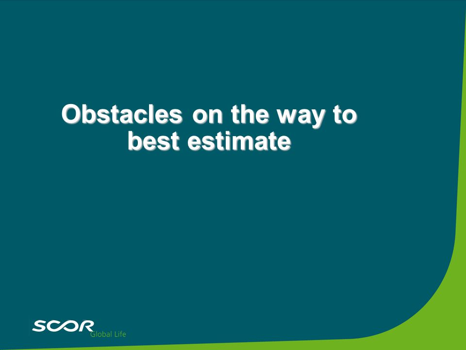 Obstacles on the way to best estimate