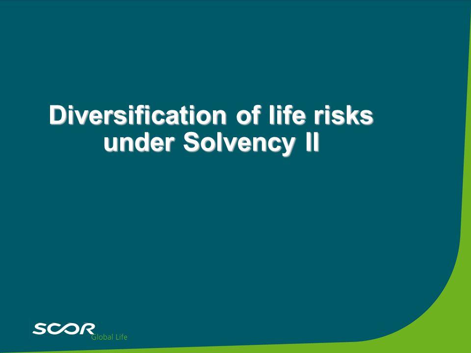 Diversification of life risks under Solvency II