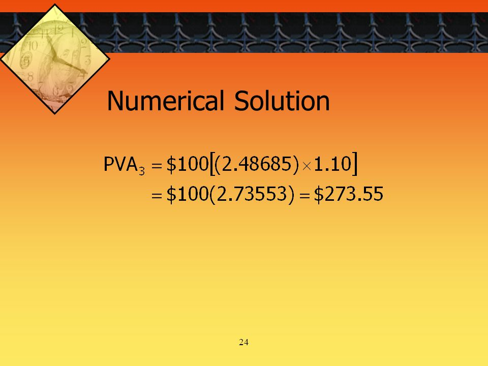 24 Numerical Solution