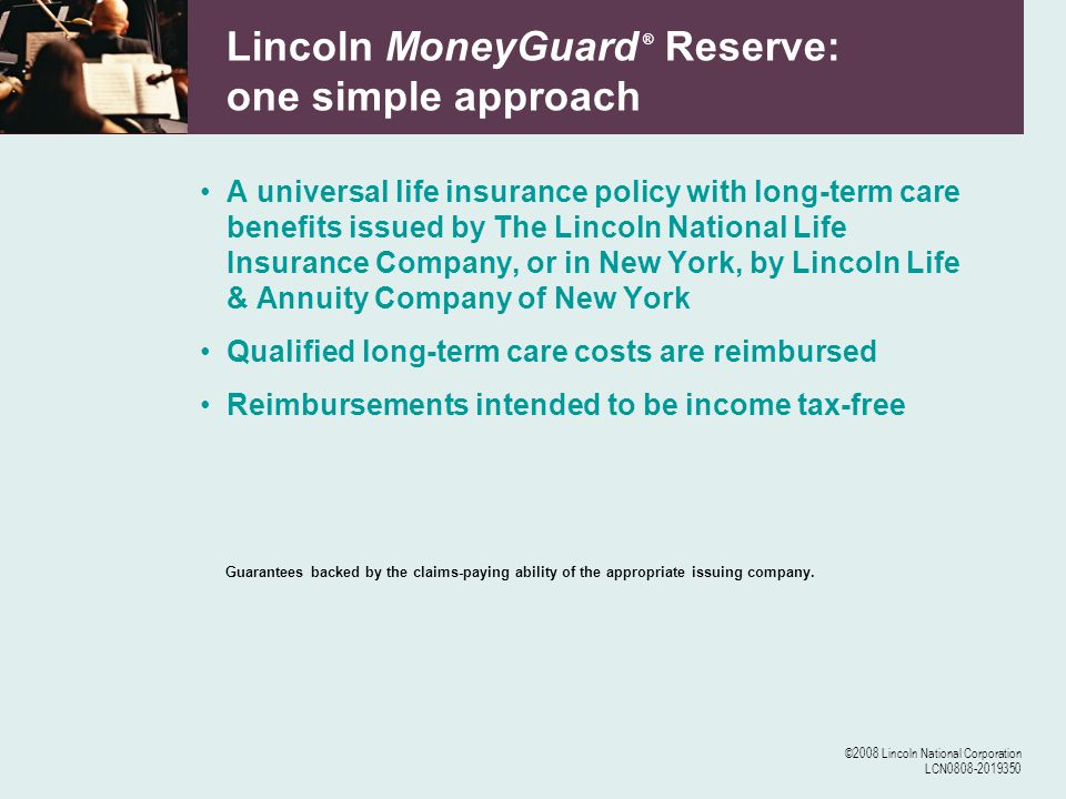 ©2008 Lincoln National Corporation LCN0808-2019350 Some things to think about What could long-term care costs do to your portfolio.