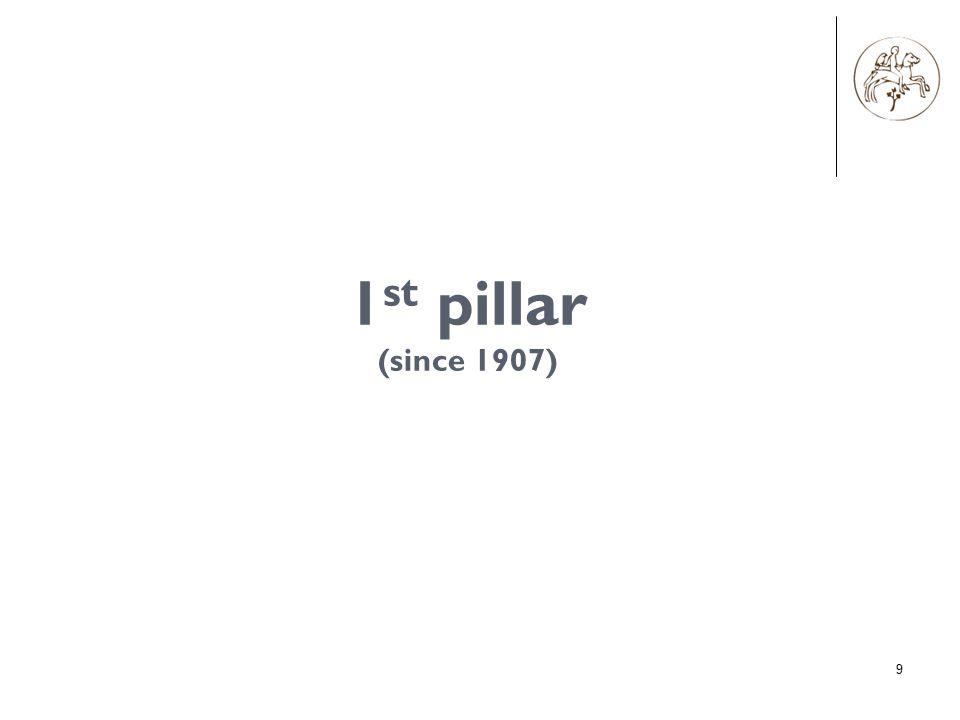 9 1 st pillar (since 1907)