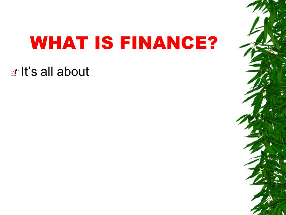 COURSE 42.254 ESSENTIALS OF BUSINESS FINANCE
