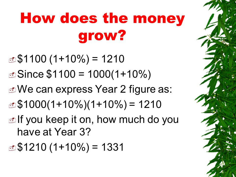How does the money grow.