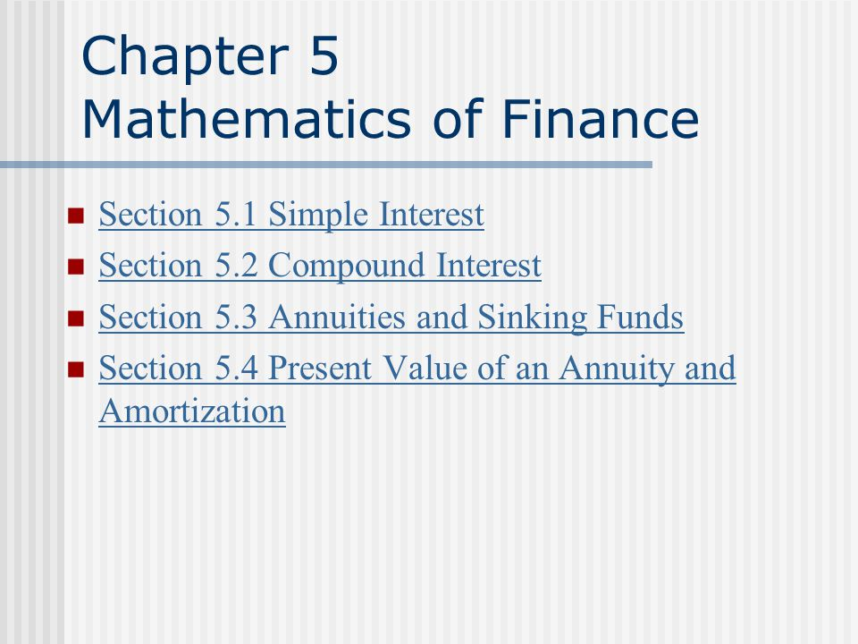 Two Ways to Save Money Future Value of an Annuity Present Value of an Annuity