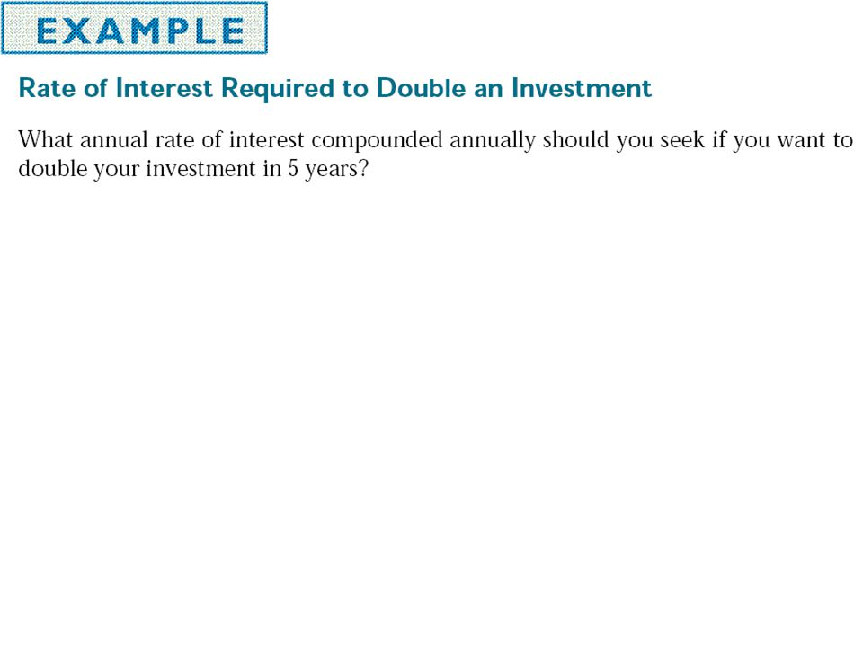 Example Suppose $800 is invested at 12% for 2 years. Find the amount at the end of 2 years if the interest is compounded (c) quarterly.