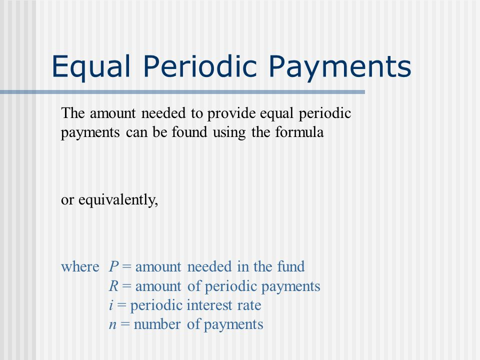 Example Find the present value of an annuity with periodic payments of $2000, semiannually, for a period of 10 years at an interest rate of 6% compoun