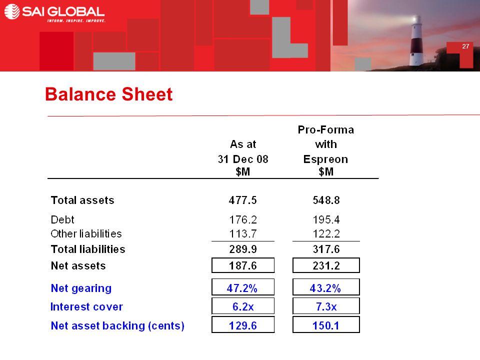 27 Balance Sheet