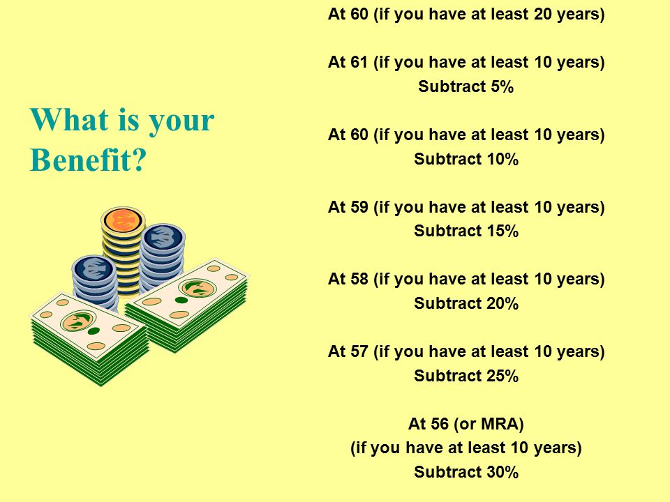 Possible monthly benefit at age 62 http://www.ssa.gov/cgi-bin/benefit6.cgi
