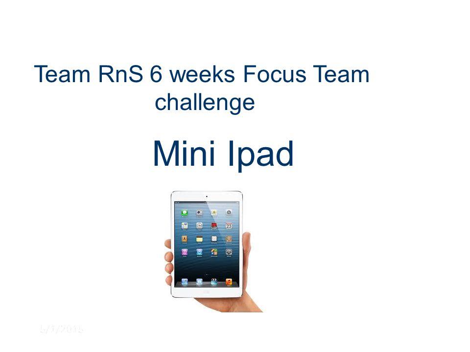 5/1/2015 Team RnS 6 weeks Focus Team challenge Mini Ipad
