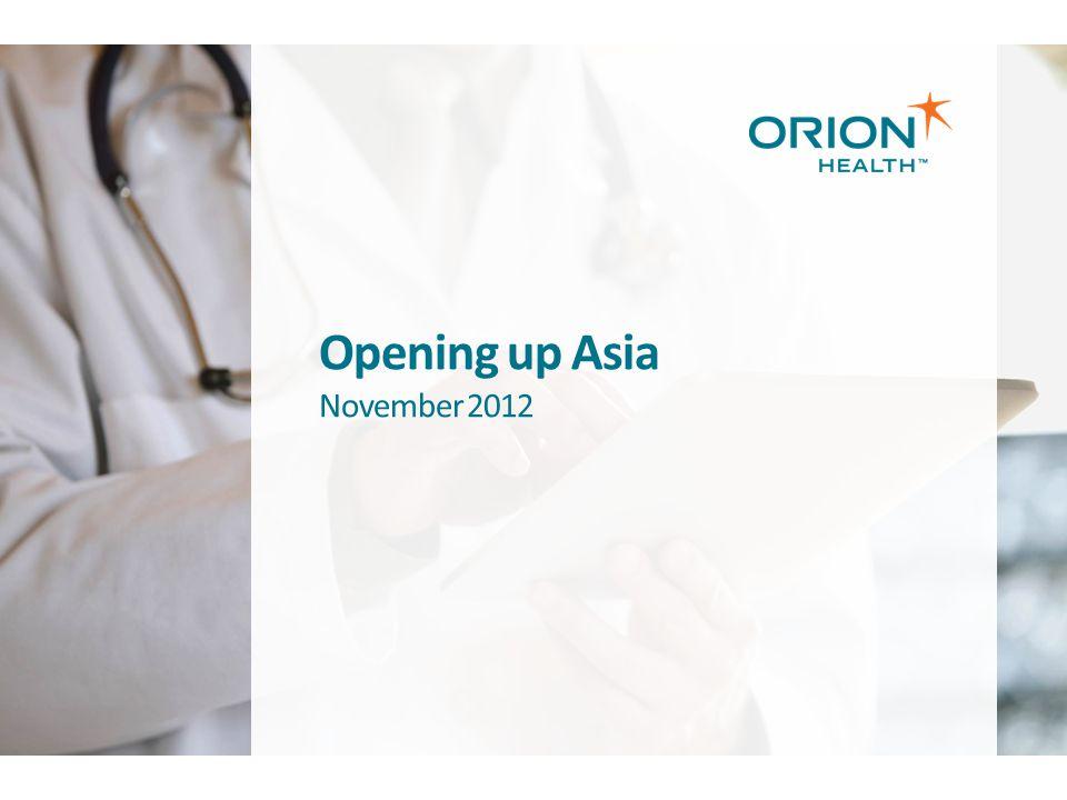 Opening up Asia November 2012
