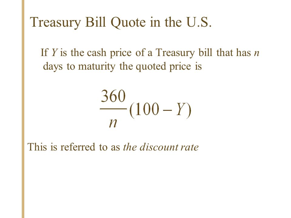 Treasury Bill Quote in the U.S.