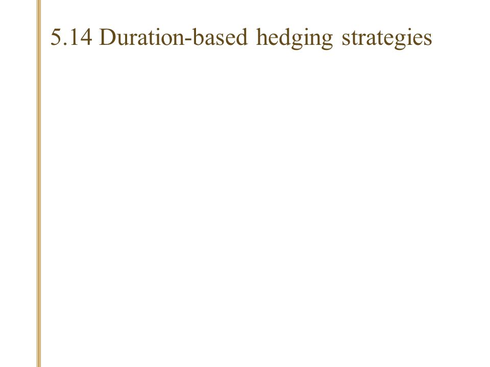 5.14 Duration-based hedging strategies