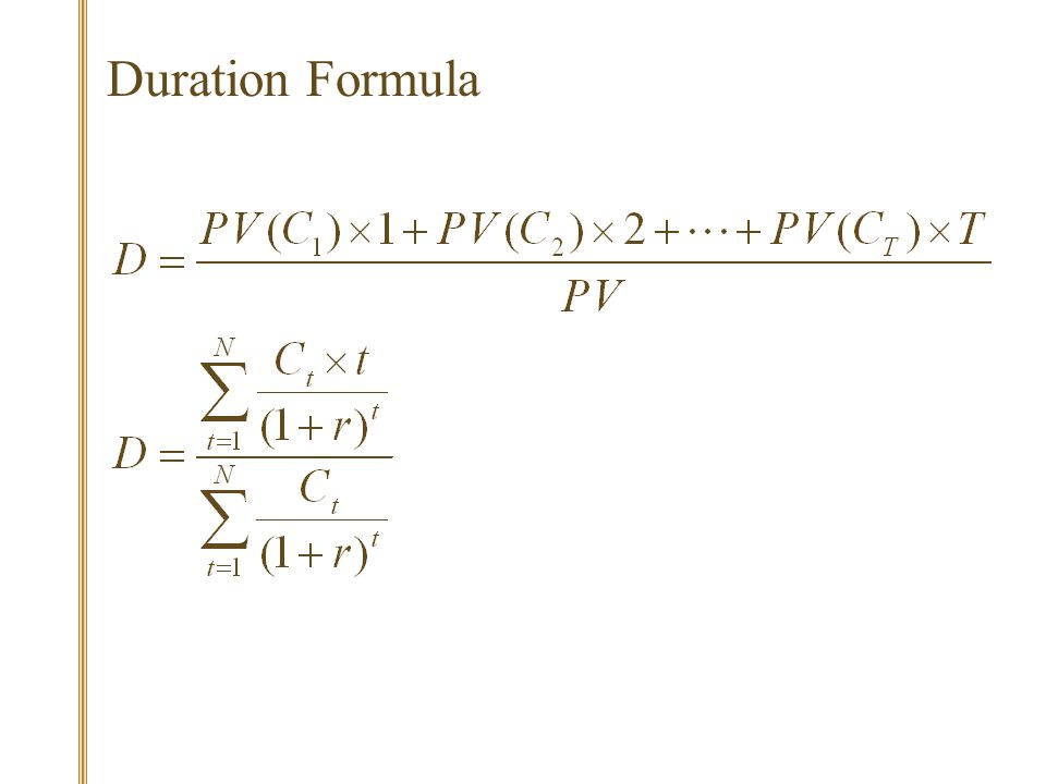 Duration Formula