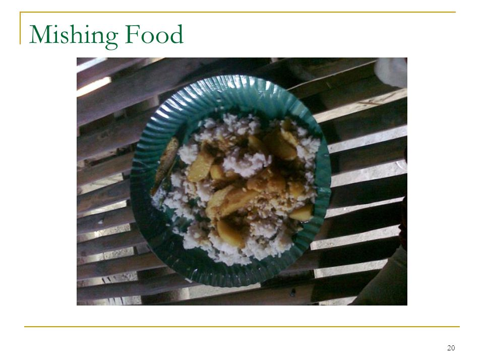 20 Mishing Food