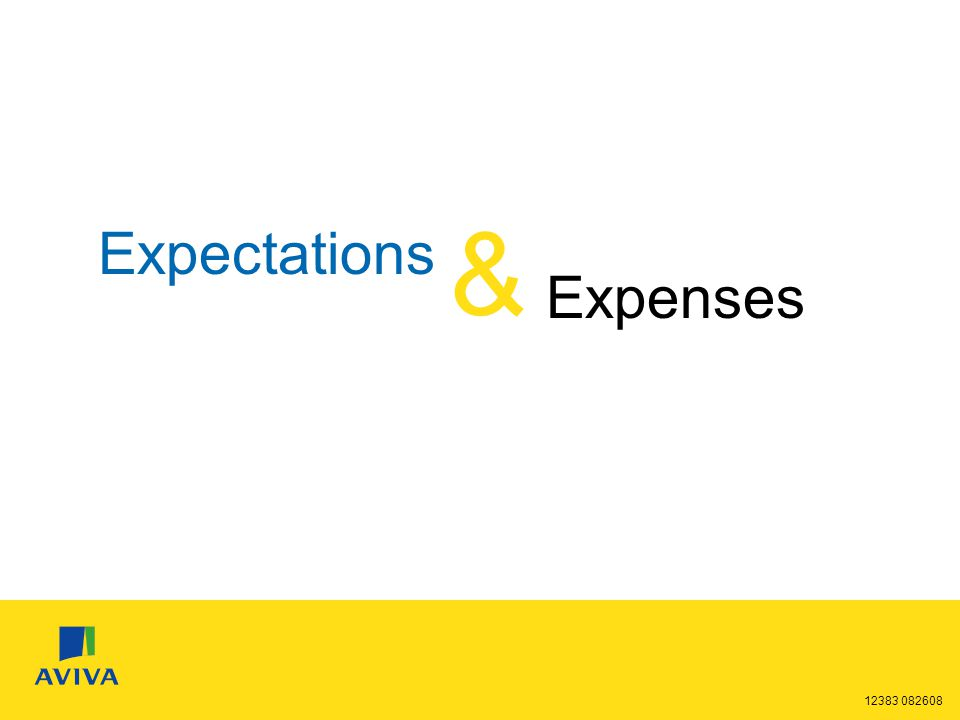 12383 082608 Expectations & Expenses