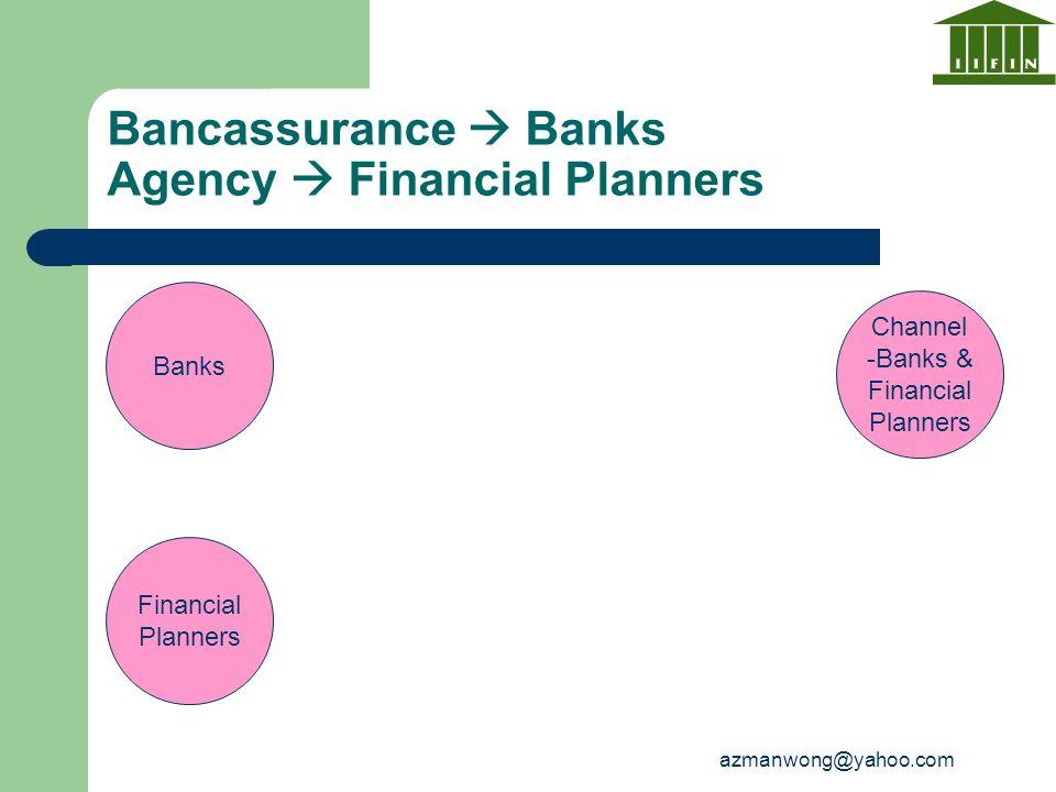 azmanwong@yahoo.com Financial Planners Banks Bancassurance  Banks Agency  Financial Planners Channel -Banks & Financial Planners