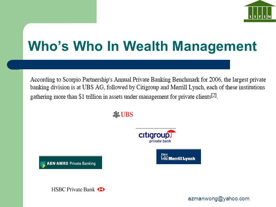 azmanwong@yahoo.com Who's Who In Wealth Management