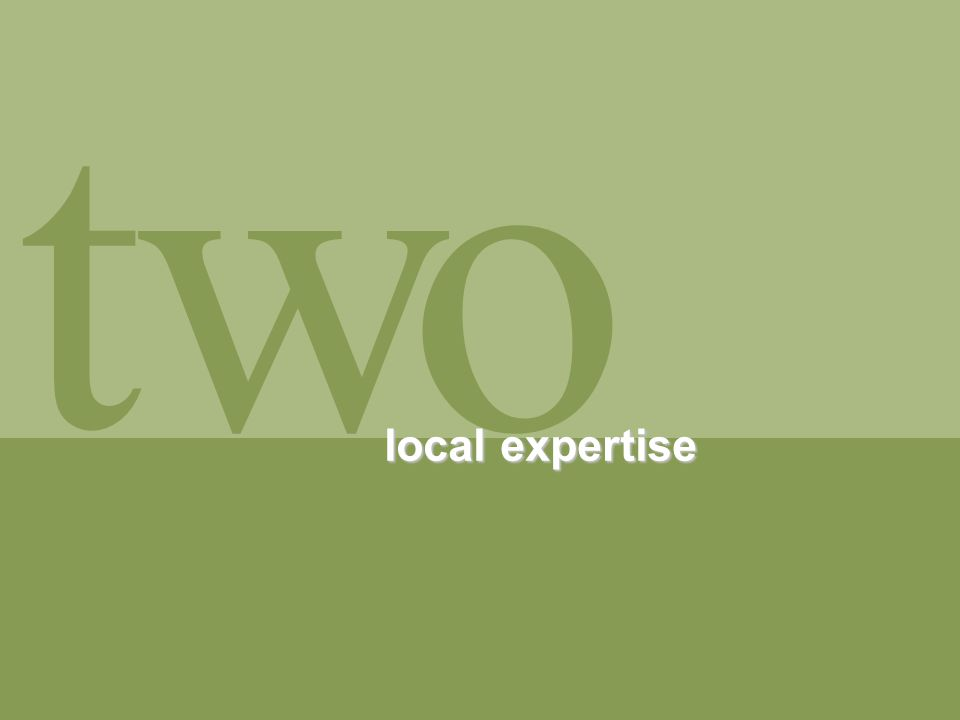 t ow local expertise