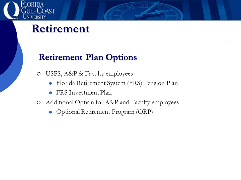 Retirement Fgcu Benefits Staff Retirement This Presentation Is An