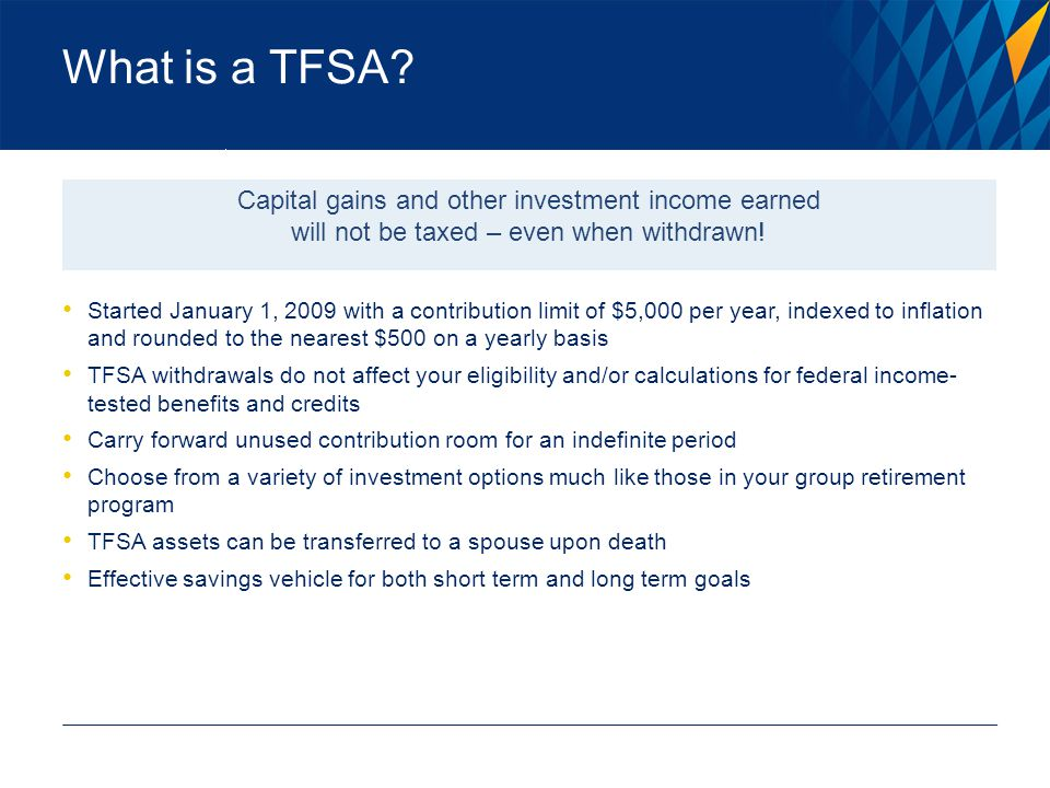 What is a TFSA.