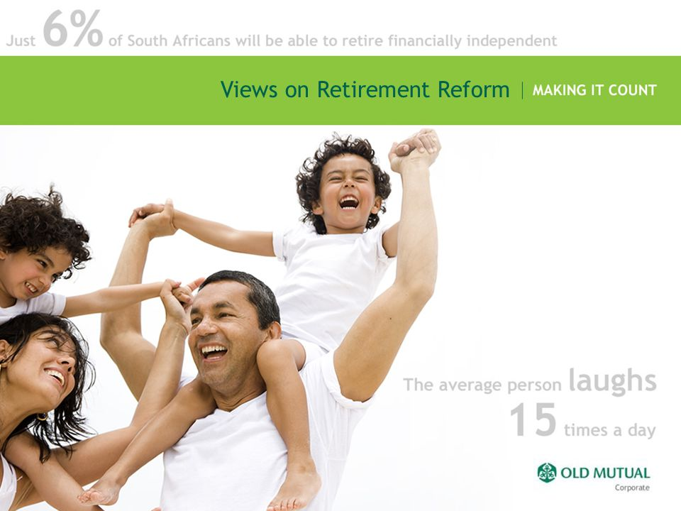 Retirement Planning Confidence Question: How satisfied are you with your financial readiness/provision for retirement at this point in time, given your age & the number of years that you have to go until retirement? Responses indicated the following average levels of confidence: Confidence of members and non-members close 45 12345678910 Total sample 5.6 Fund members 6.3 1 = Totally dissatisfied 10 = Extremely satisfied Non- members 4.8