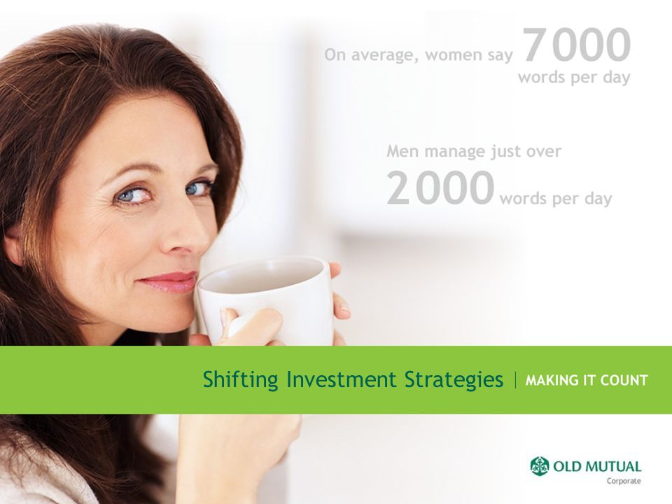 Shifting Investment Strategies