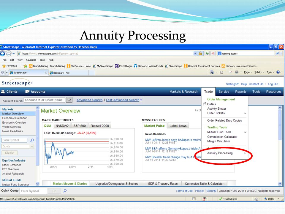 Annuity Processing