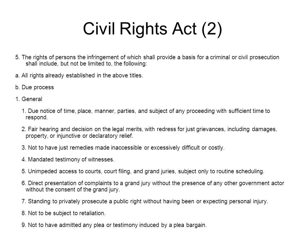 Civil Rights Act (2) 5.