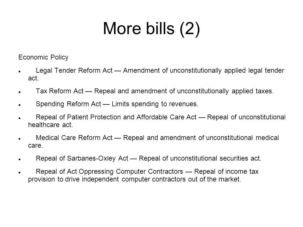 More bills (3) Judicial Reform Civil Rights Act — Amendment of preceding civil rights acts.