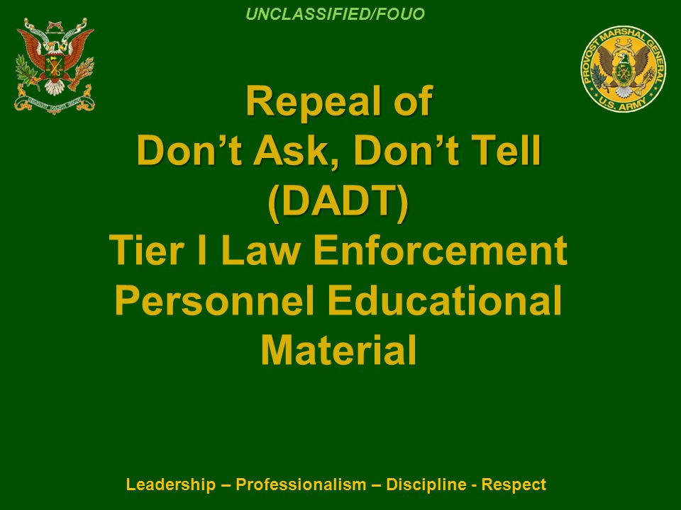Leadership – Professionalism – Discipline - Respect Discussion: Standard CID protocol should be followed.