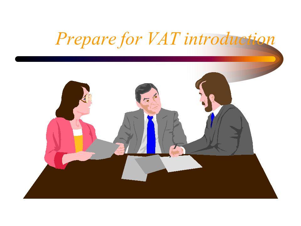 Prepare for VAT introduction
